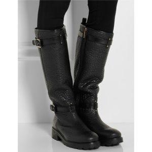 Tory Burch Black Barrett Boots Leather 7.5